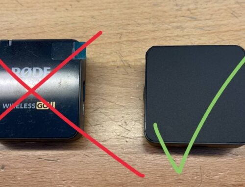 Stop the rode wireless go from reflecting